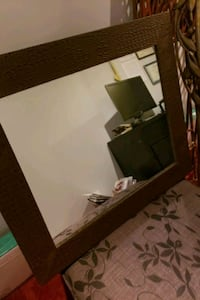 Leather framed mirror for sale