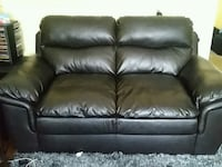 black leather 2-seat sofa Toronto, M6H