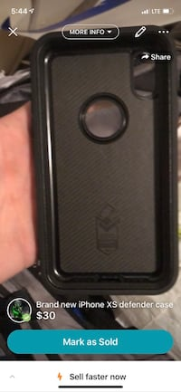 black OtterBox iPhone case London, N5Y 2N1