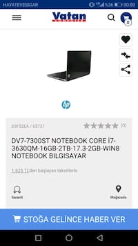 Hp envy dv7 Ankara, 06480