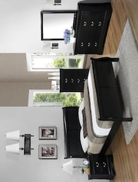 Louis Philip Black Sleigh Bedroom Set (King & Queen & Twin & Full Size Bedroom Set available) Houston, 77036