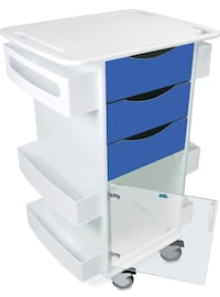 TrippNT 53158 Polyethylene/ABS Locking Core DX Medical Cart London, N6E 1G2