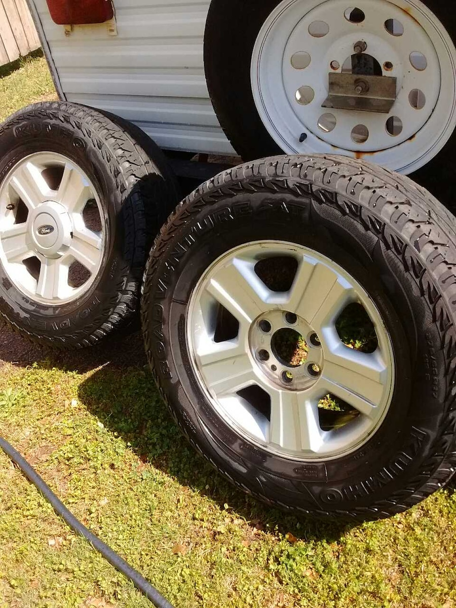 Used Ford Wheels : Used ford lug wheels and tires in oakwood