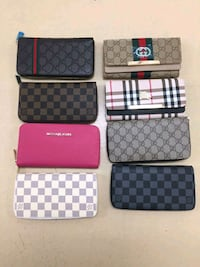 several leather zip-around wallets