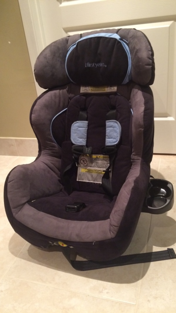 The First Years Car Seat Fits 5 65 Lbs With Removable Headrest Rear