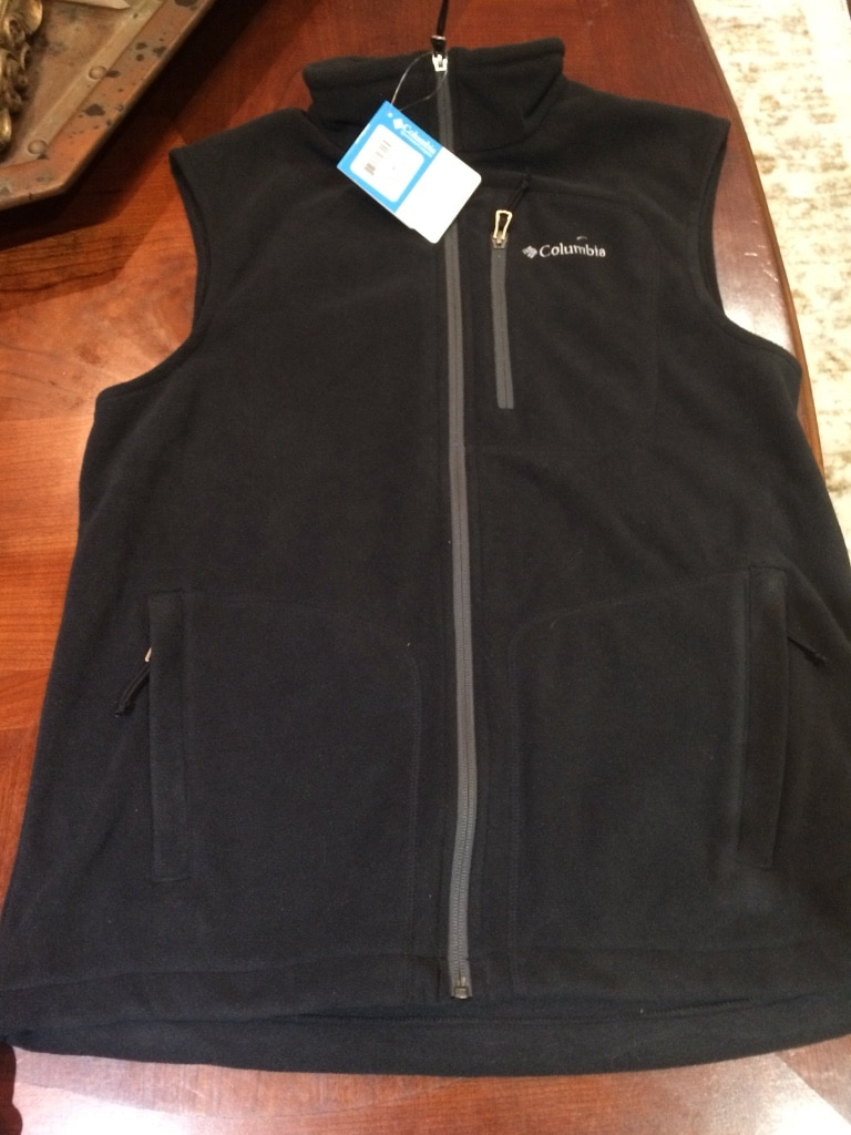 black Columbia zip-up waistcoat for sale  Lafayette