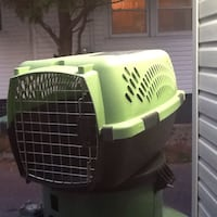 green and black pet carrier Fredericton, E3A 2X1