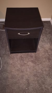 black wooden 2-drawer nightstand London, N6E 2H3