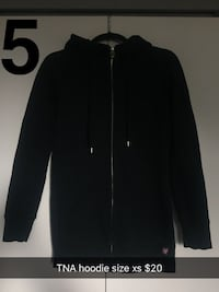 TNA Black zip-up jacket size xs