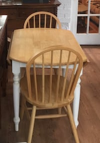 Wood Round Table with Two chairs  East Meadow, 11554