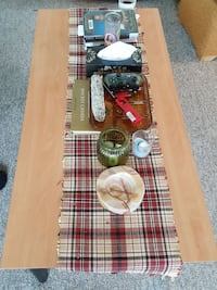 assorted item, red and white plaid table runner Surrey, V3T 4B3