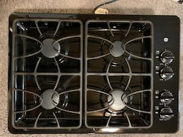 GE gas stove top