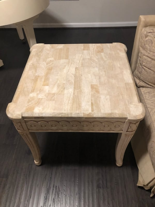 End tables marble tops  7577e273-45d3-4f15-911b-0c1bb3b7ccac