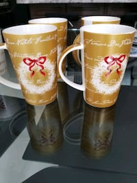 Fine bone china xmas mugs set of 4 from Maxwell Williams Vaughan, L4H 2T6