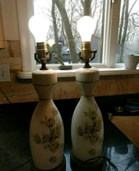 Vintage bone china lamps. Both for 100.
