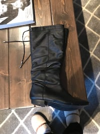 pair of black leather knee-high boots Hamilton, L8B 1K5