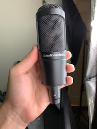 Audio Technica AT2035 XLR Microphone / WITH POP FILTER