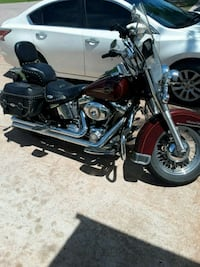 black and red touring motorcycle Houston, 77038