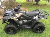black and gray Polaris ATV ASHBURN