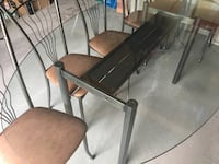 """Glass Table with 6 chairs in Very Good condition 46""""x 76"""" long Richmond Hill, L4E 4T2"""