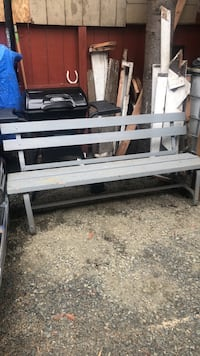 Metal and  wooden bench