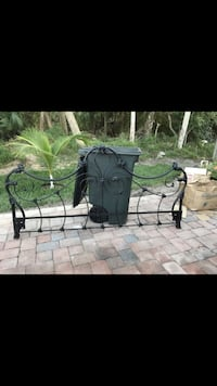 black metal scrolled bed headboard and footboard  Port St Lucie