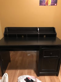 Desk black one year old good condition