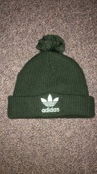 Green Adidas Beenie with PomPom Burnaby, V5C 3E2