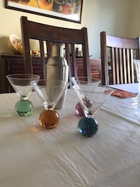 Martini Glasses and Shaker North Vancouver, V7P 2Y4