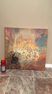 brown and blue leaves painting Calgary, T2A