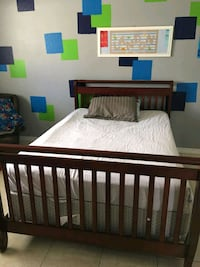 Full size bed with box spring & frame.  Cape Coral, 33990