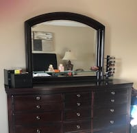Dresser with mirror & 2 Side tables