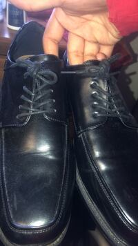 pair of black leather dress shoes Attleboro, 02703