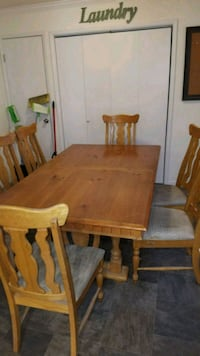 Large Kitchen Table chairs leaf Modesto, 95350