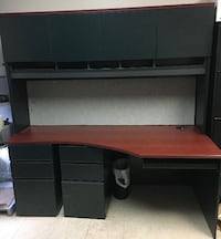 WRITING DESK WITH HUTCH AND EXTRA DRAWER (71″W X 34.5″D X 72″H, HEIGHT FROM THE GROUND TO DESK 28.5″H) $250 Toronto