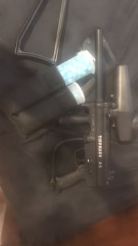 black Tippmann paintball gun