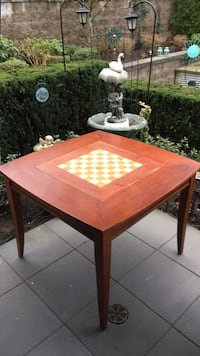 Solid wood Backgammon and Chess table with optional regular top