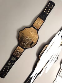 WWE WCW Big Gold Title from WWE Shop signed by Randy Orton, Sting and Ric Flair Providence, 02904