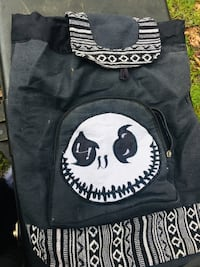 The nightmare before Christmas jack poster and brand new jack the nightmare before xmas backpack never ever been used not even once and a nightmare before xmas journal brand new