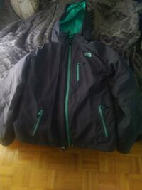 black and green zip-up jacket