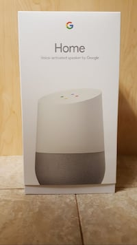 white Google Home speaker box