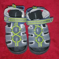 George pair of black-and-gray sandals Hamilton