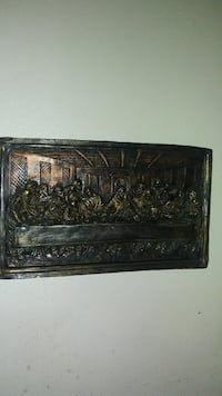 rectangular The Last Supper embossed wall decor