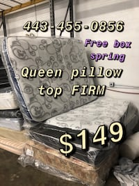 Mattress FREE BOX SPRING (firm pillow top) Baltimore, 21223