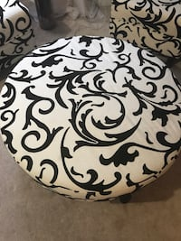 two white-and-black floral sofa chairs Brampton, L7A 1X2