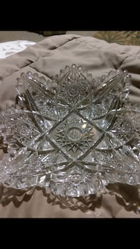 Antique Heavy Cut Glass Bowl