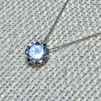 14k White Gold Chain with Diamond Pendant Ashburn