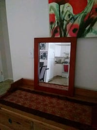 Wall mirror with brown wood frame Calgary, T2Y
