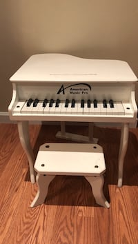 white and black American Pro grand piano