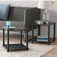 2 End Table Set for Living Room Couch Office Den B